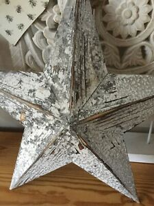 Rustic Style Shabby Chic Large Coastal Washed Wooden Barn Star 54cm