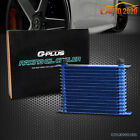 15-row 10an Powder-coated Aluminum Enginetransmission Racing Oil Cooler Blue