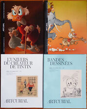 4 catalogues vente ARTCURIAL planches originales Tintin Hergé Druillet Moebius