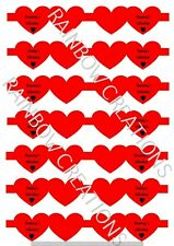 Valentines hair bow making fabric simply cut out template bows canvas printed