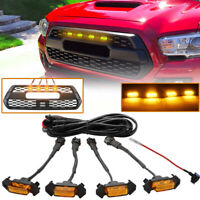 4 Pack LED Amber Grille Lights Fit For Toyota Tacoma TRD PRO 2016-2018 2020 EOA