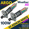 H1 Xenon 448 White 100w All Weather Hid Fog Head light Lamps Bright Bulbs 12v
