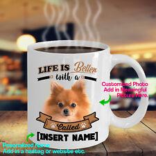Personalized Pomeranian Dog Pom German Spitz Miniature Coffee Mug Life Better