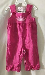 Smockadot Infant Girls Pink Smocked Romper Overalls Size 12 Months