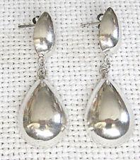 sterling dangle stud earrings Mexico art deco silver