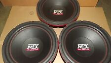"3- MTX AUDIO 10"" SUBWOOFERS 100 RMS EACH .35 OHM RT10-200 REPLACEMENTS"