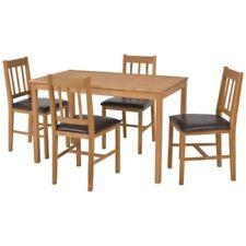 Oak Rustic Rectangular Table & Chair Sets
