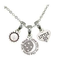 Little Sis Love You To The Moon Silver Chain Necklace Jewelry Sorority Sister