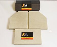 Clearview Pioneer 400 Stove Baffle/Throat Plate and Fire Brick Set