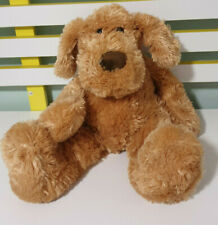 HERNANDO DOG MINKPLUSH  STUFFED ANIMAL 42CM BEANS IN BUM BROWN DOG TOY