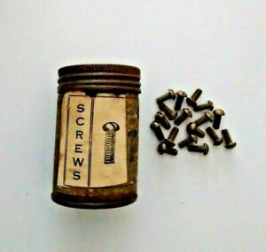 Antique SCREWS Can R.C. CAN CO. ST. LOUIS MO Paper Label with 17 Brass Screws