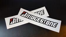2 x Bridgestone Tyres Stickers Race & Rally Car Stickers. 140mm x 28mm