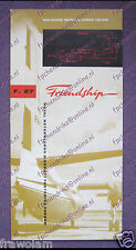 FACTORY INTRODUCTION LEAFLET BROCHURE - FOKKER F27 FRIENDSHIP - ENGLISH SEP 1958