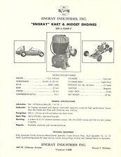 Vintage 1960's Engray Go-Kart & Midget Engine Brochure