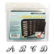 Beadsmith 4mm SPIRAL Uppercase Alphabet Punch Set with Case