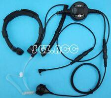BIG PTT Military Throat Mic Headset/Earpiece Cobra Radio CX112 CXT135 CXT145