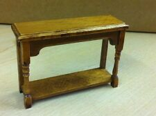 Hall side table in rovere, DOLLS HOUSE miniatura, noce mobili in legno. 1.12 TH