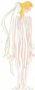Mircea Marosin (1921-2007) - Contemporary Gouache, Elegant Costume Design