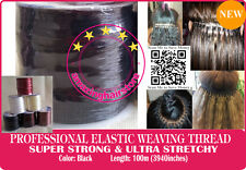 Brazilian Knot Hair Extension Ultra Stretchy Elastic Weaving Threads-100M Black