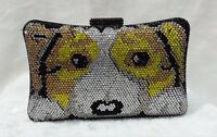 Multi-color ~ DOG Pattern~ Evening Handmade Rhinestone Crystal Purse Clutch Bag