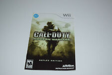 CALL OF DUTY Modern Warfare Reflex Edition for Wii Instruction Booklet only
