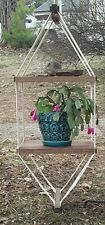 Vintage Beautiful Two Tier Hanging Canvas Mobile