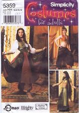 Simplicity Ladies Costume sewing Pattern 5359 Gypsy Genie Harem  Size 6 - 12