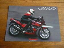 KAWASAKI GPZ500S EX500 D1/E1/F1  MOTORBIKE BROCHURE