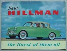 HILLMAN MINX SERIES I Car Sales Brochure 1956-57 #456/2/66/60/H