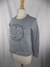 ROXY WOMEN'S GRAY SWEAT SHIRT SIZE XS AT THE BEACH AND IN THE MOUNTAINS