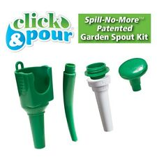 Click and Pour 5 Pc Funnels Garden Spout Kit Transferring Fluids No Mess Kitchen