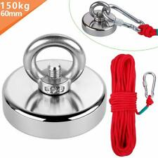 Anpro Round Neodymium Eyebolt Fishing Magnet with 66ft Red Rope, Super Power N52