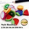 Novelty Mini Fruit Rubber Pencil Eraser Set Stationery Kids Children 2-100 PCS