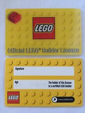 *NEW* 1 Piece Lego OFFICIAL LEGO BUILDER LICENSE Card Party Favors