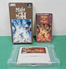 SNES -- MIGHT AND MAGIC BOOK 2 -- Boxed. RPG. Super famicom, Japan Game. 13202