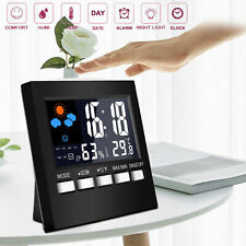 Thermometer Hygrometer Humidity Weather Station Forecast LCD Digital Alarm Clock