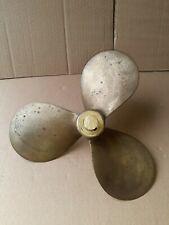 Vintage Tru-Pitch Brass 3 blade Boat Propeller