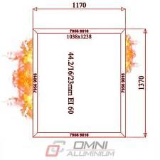 Brandschutz Aluminium fenster, F60 = Ei60, Brandschutfenster, 1170 mm x 1370 mm