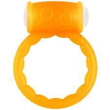 Fluo Cock Ring - arancione ANELLO VIBRANTE per 40 minuti con due batterie.