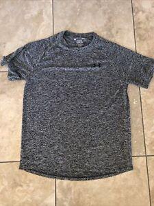 Men's Under Armour The Tech Tee Gray Grey Shirt- size L