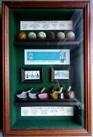 Golf Collectors Society - Shadow Box with The Develoment of Golf Balls and Clubs