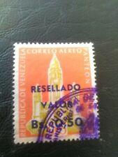 USED STAMP OF VENEZUELA 1965 OVERPRINTS AIRMAIL 0.50 MULTICOLOURED.