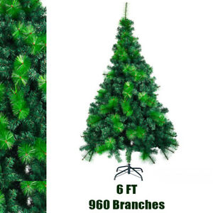 6FT Green Christmas Tree - Holiday Festival Home Decoration In/Outdoor w/ Stand