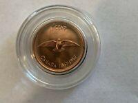 1867-1967 CANADA BU CENT DOVE CENTENNIAL COPPER PENNY COMES IN PLASTIC CAPSULE