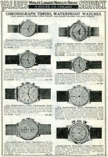 1940 Print Ad Chronograph Timers & Waterproof Watches Monarch Multichron Racine
