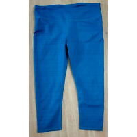 Fabletics Womens Leggings Size Small Mid-Rise Powerhold Printed Carpi Blue