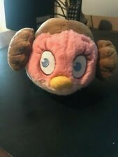 "Angry Birds Star Wars Stella Pink Bird Princess Leia Medium 5"" Plush"