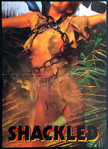 SHACKLED__Orig. 1984 Trade AD insert promo / poster__SAVAGE ISLAND__Linda Blair