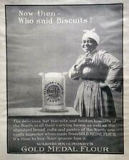 1906 Black Americana Mammy Art Gold Medal Flour Vintage Print Ad