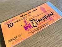 1960s DISNEYLAND vintage ticket book ADMISSION & MAGIC KEY BOOK Walt Disney '60s